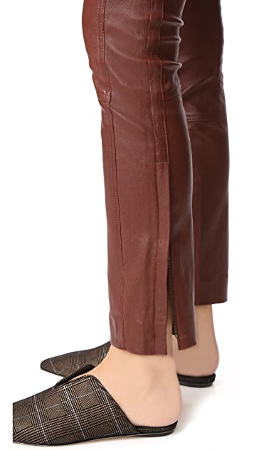 Theory Leather Riding Pants
