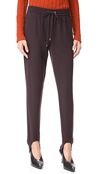 Theory Pull On Stirrup Pants - Garnet