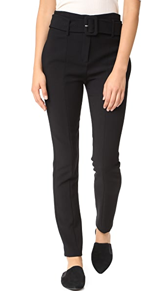 Theory Belt Cigarette Pants In Black
