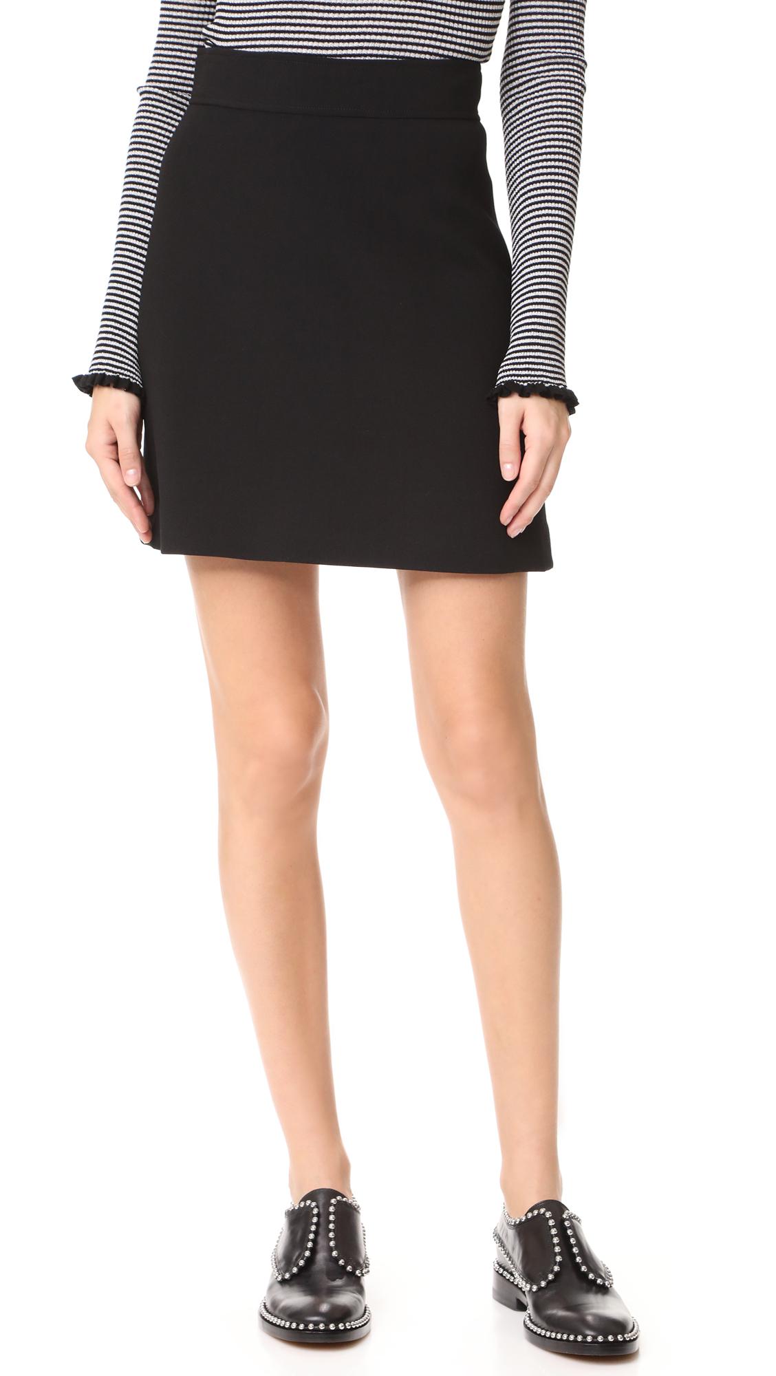 Theory Highwaist Mini B Skirt - Black