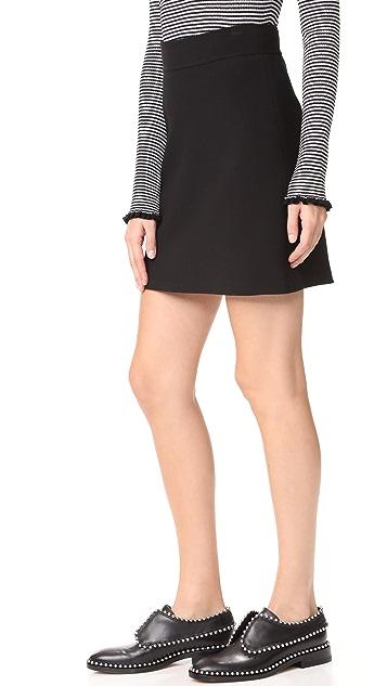 Theory Highwaist Mini B Skirt
