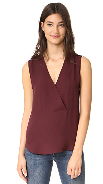 Theory Crossover Shell Tank - Dark Currant