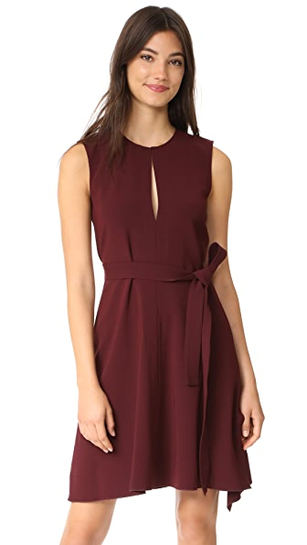 Theory Desza B Dress In Dark Currant