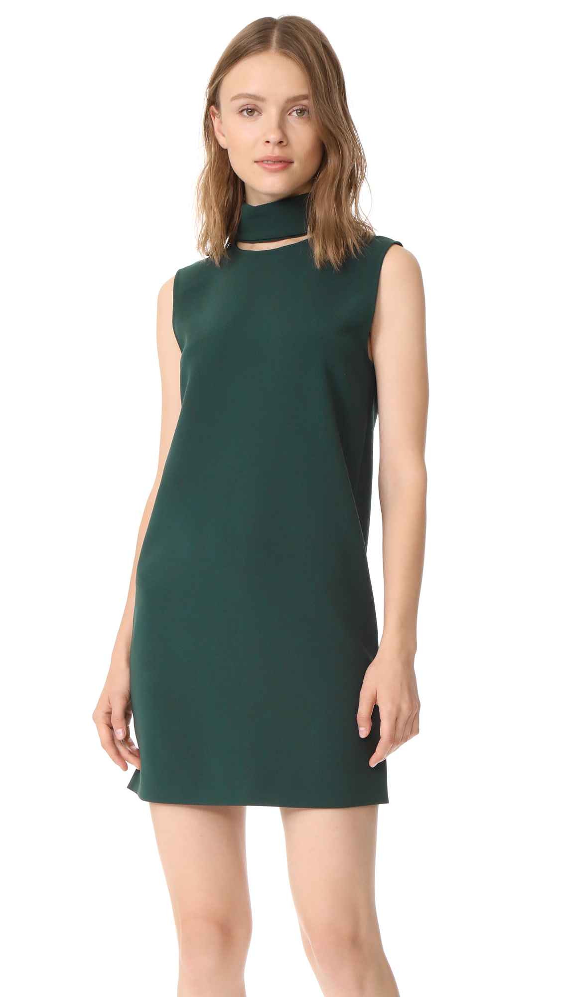 Theory Slit Collar Dress - Billiard