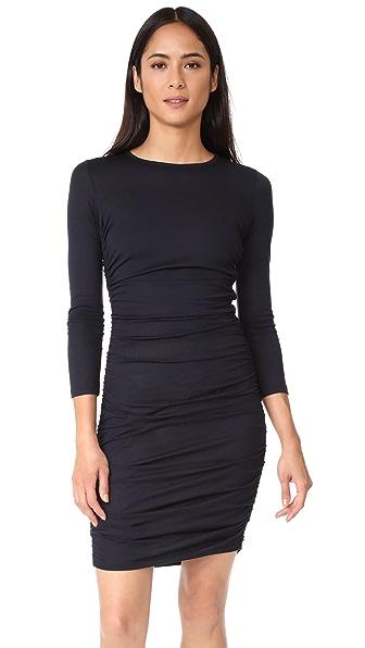 Theory Ruched Mini Dress