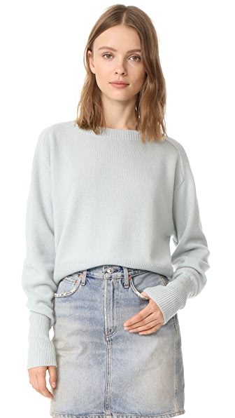 Theory Relaxed Cashmere Sweater - Light Winter Green