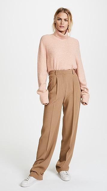 Theory High Waist Pleated Pants
