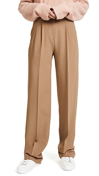 Theory High Waist Pleated Pants at Shopbop