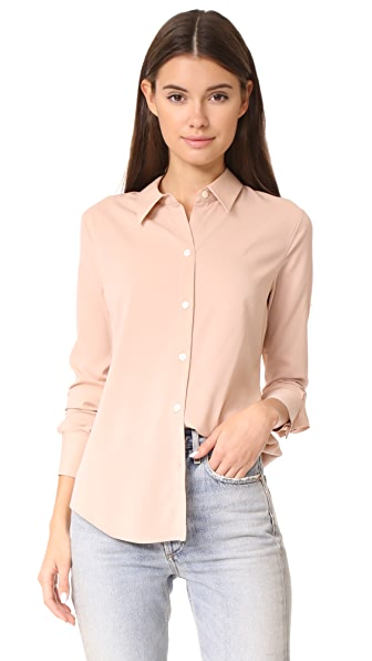 Theory Perfect Fitted Shirt - Pink Nude