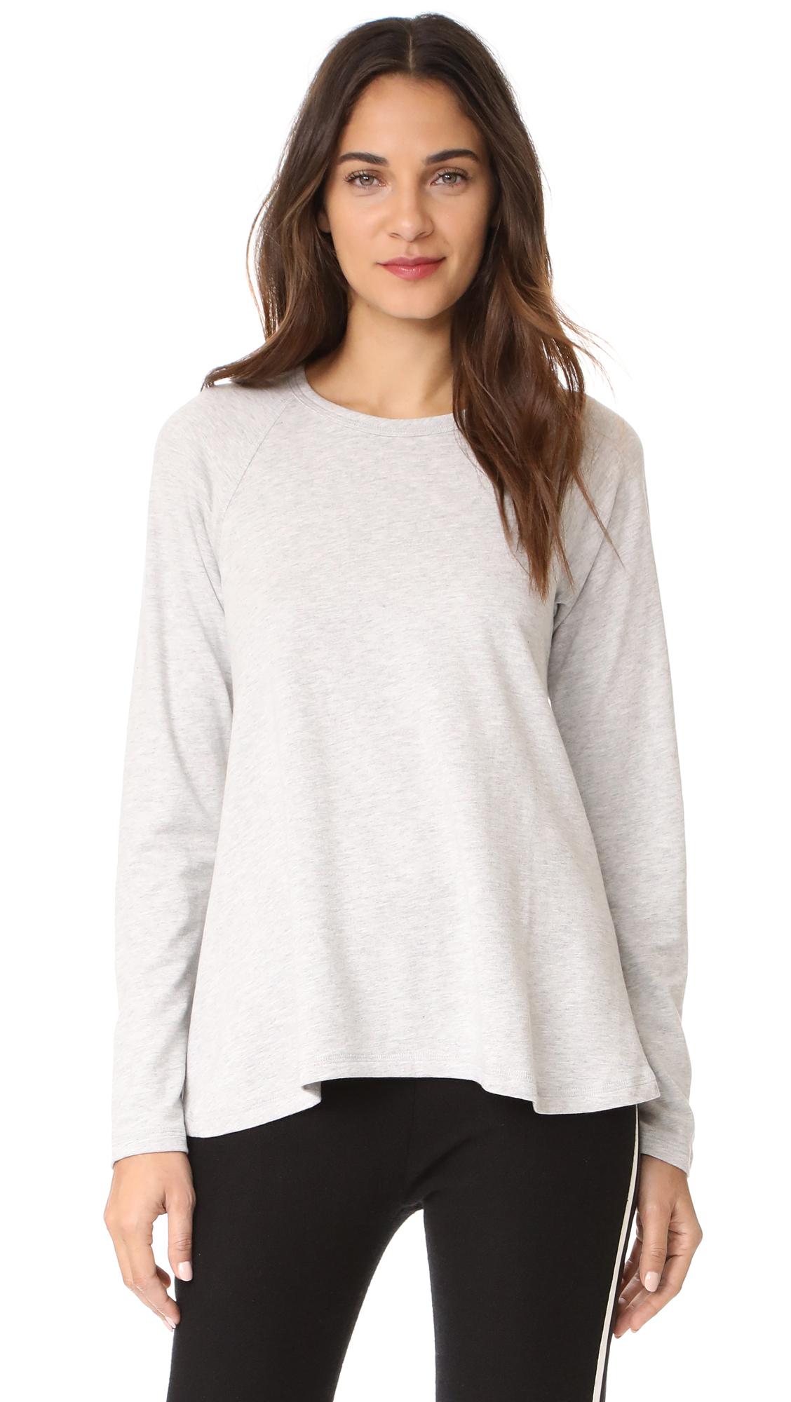 Theory Swing Pullover Sweatshirt - Light Heather Grey