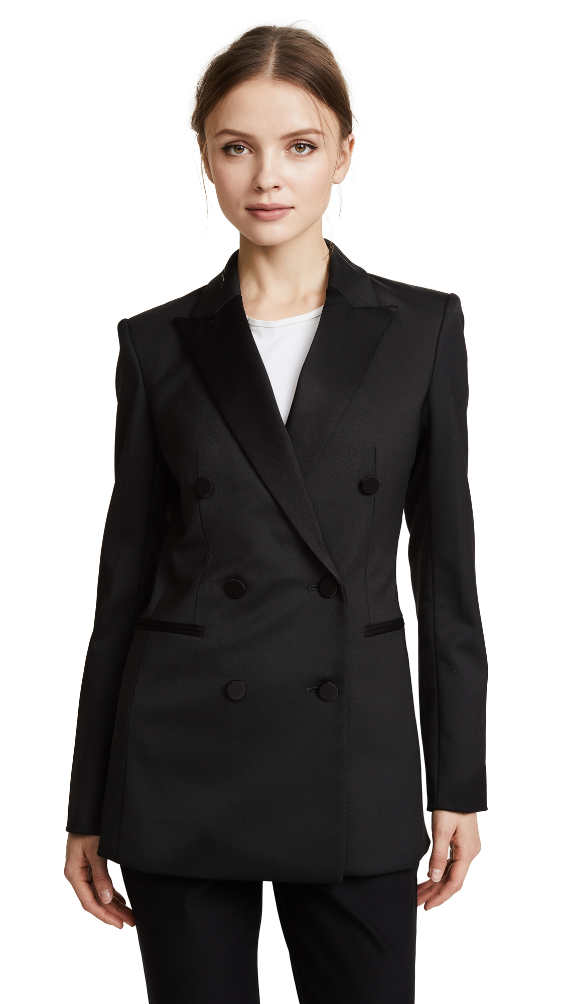Theory Wool Tux Jacket - Black
