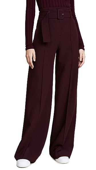 Theory HW Belt Pants In Dark Currant