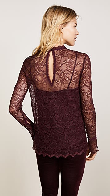 Theory Long Sleeve Lace Top