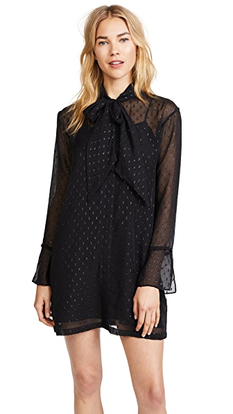 Theory Scarf Dress In Black