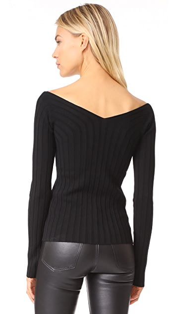 Theory Wide V Rib Sweater