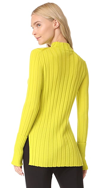 Theory Wide Rib Mock Sweater