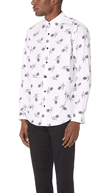 Theory Clean Floral Shirt