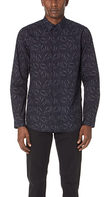 Theory Levy Dotted Feather Shirt