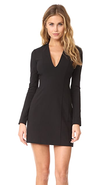Theory V Neck Mini Dress