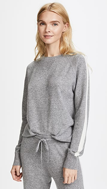 Theory Athletic Stripe Cashmere Sweater