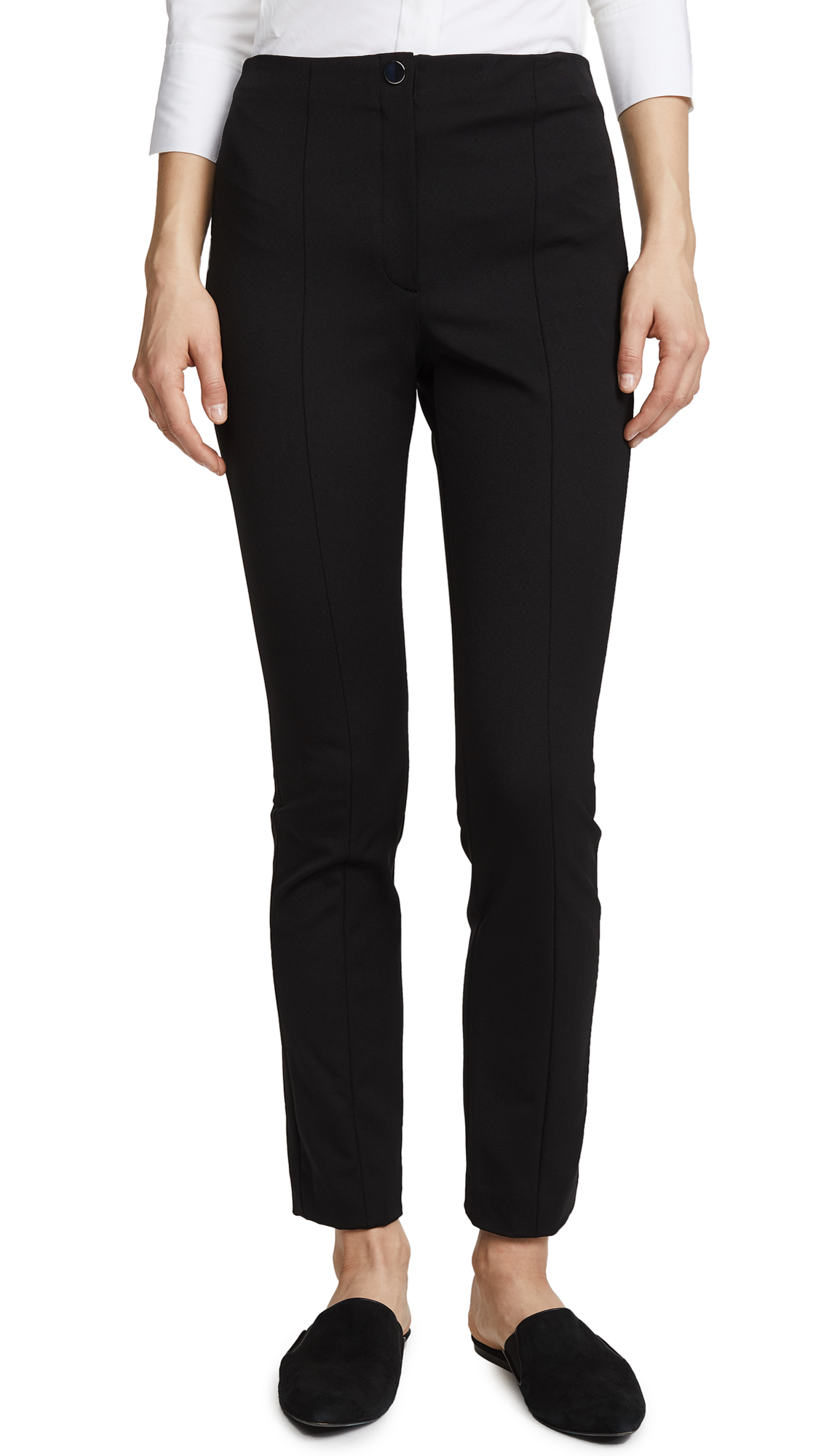 Theory Clean Cigarette Pants - Black