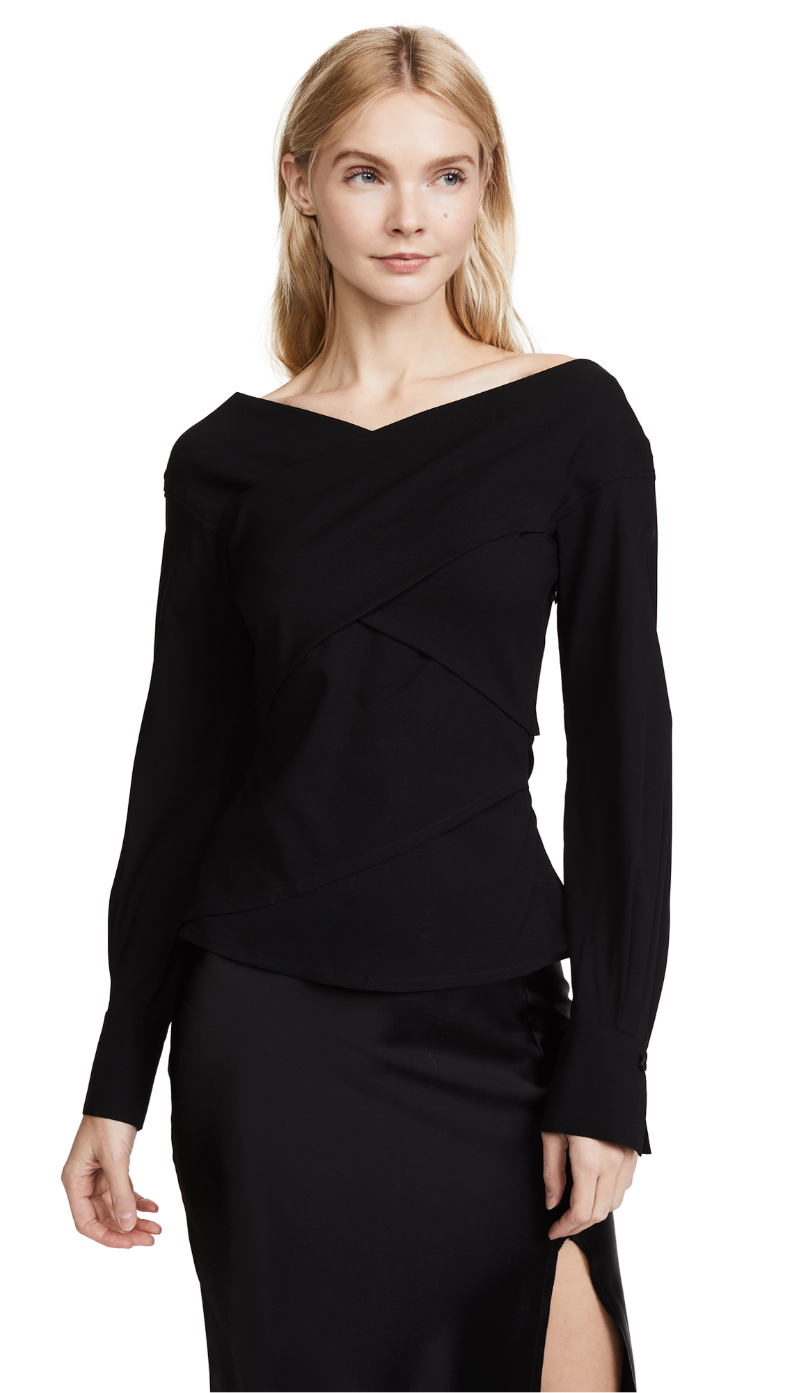 Theory Wrapped Top - Black