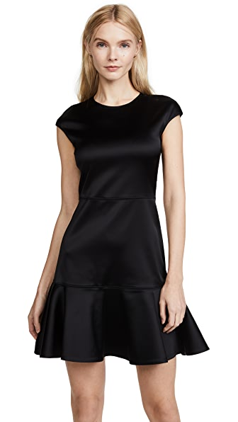 Theory Essential Flare Dress In Black