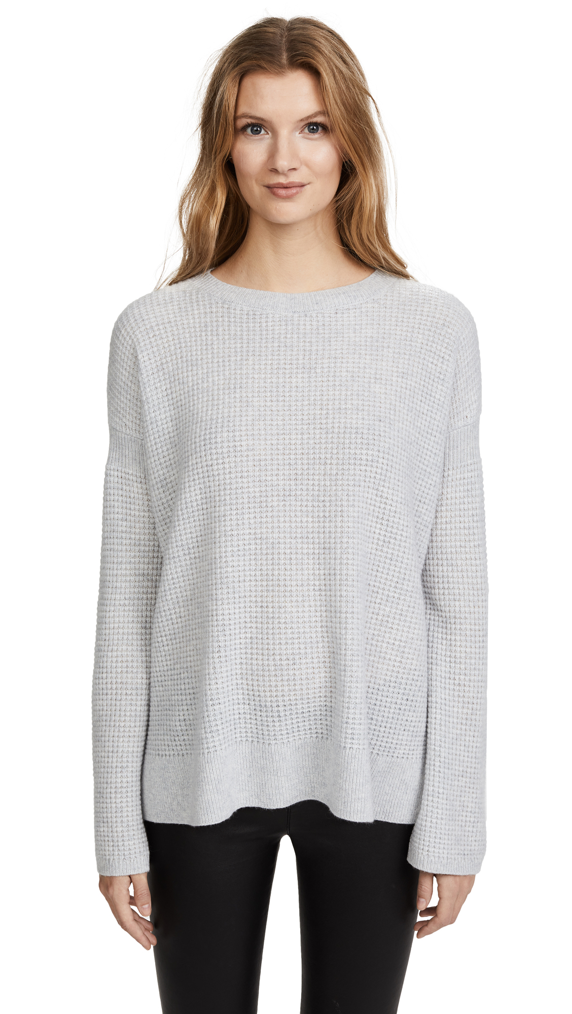 Theory Cinched Sleeve Cashmere Sweater - Whale Grey