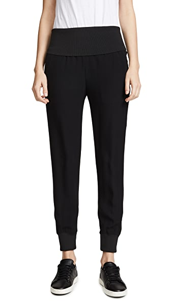 Theory Rib Joggers In Black