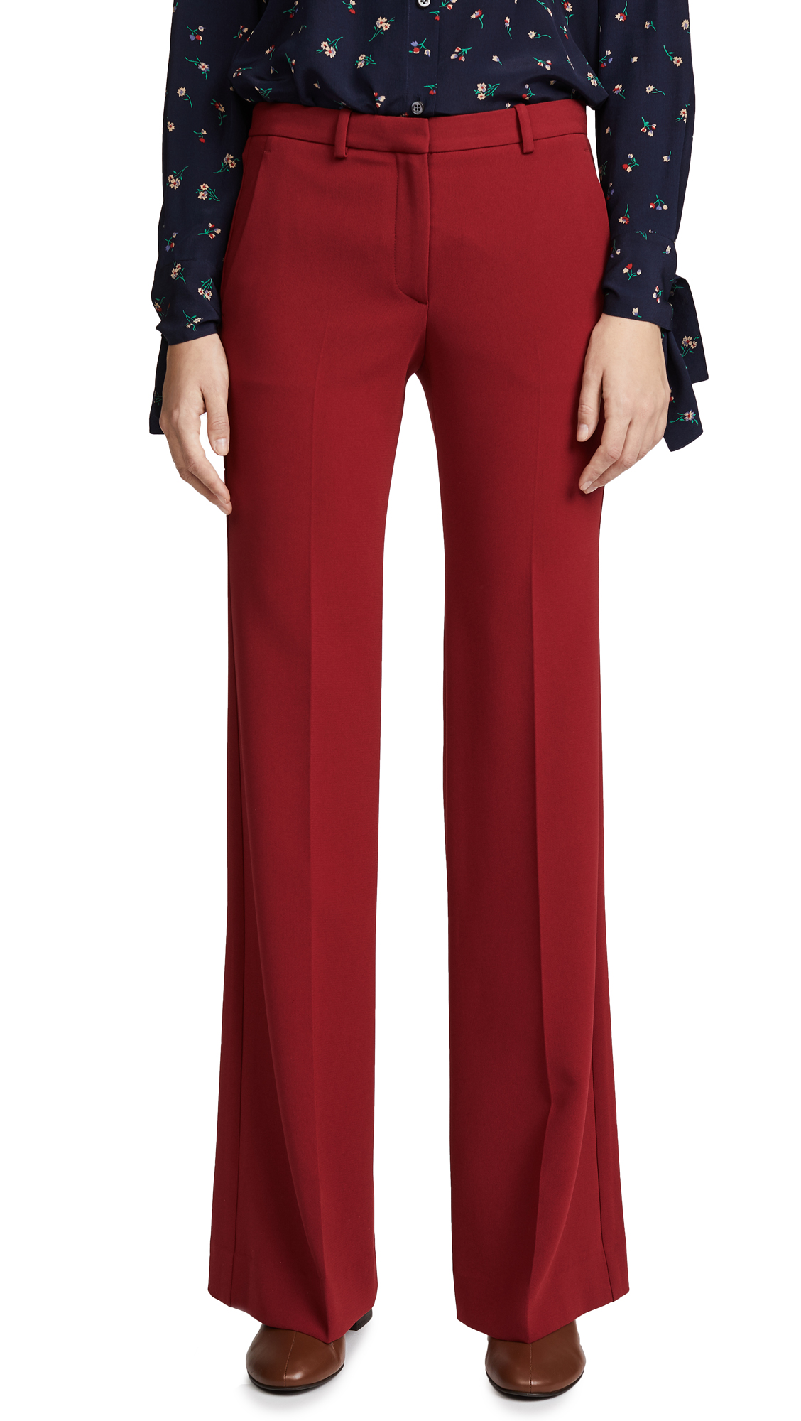 Theory Demitria 2 Pants - Bright Raspberry
