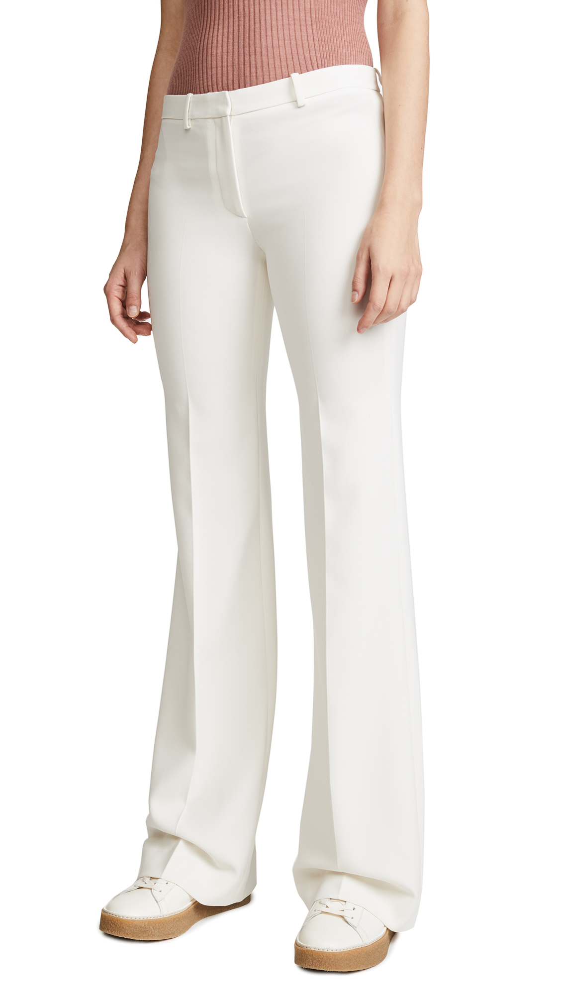 Theory Demitria 2 Pants - Warm Ivory