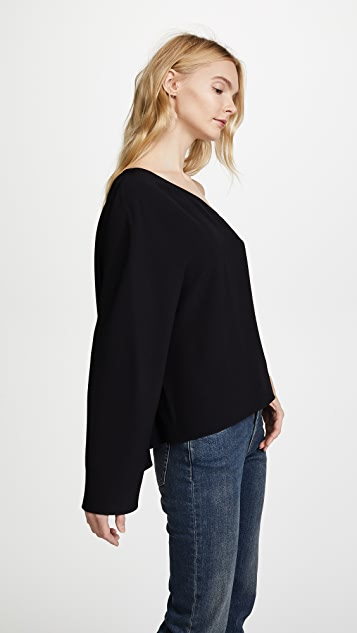 Theory Ruza One Shoulder Top