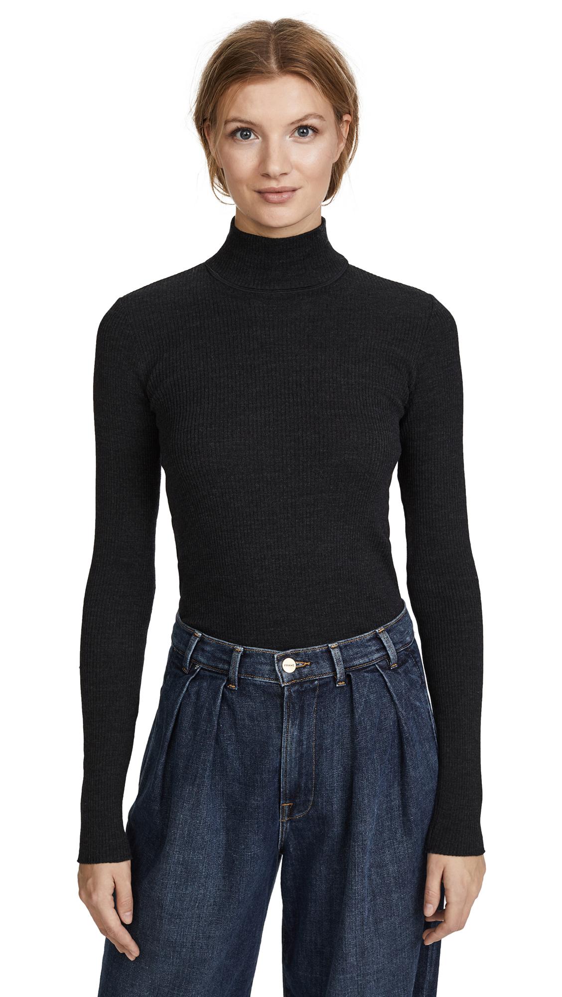 Theory Basic Sweater - Charcoal