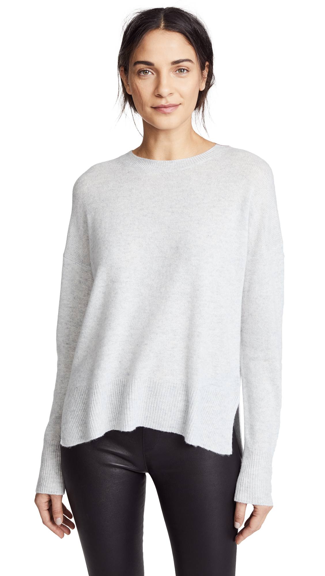 Theory Karenia Cashmere Sweater - Whale Grey