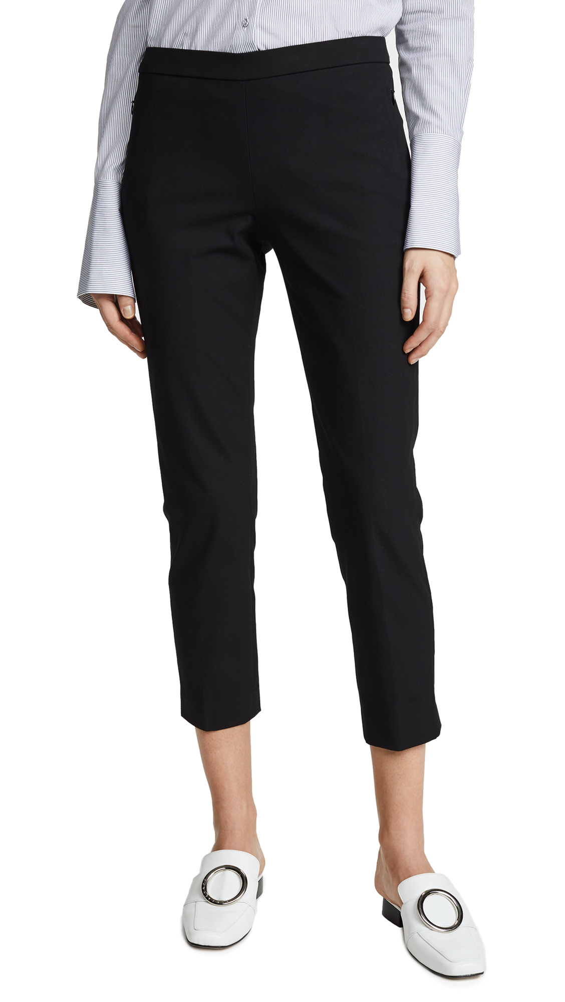 Organic Crunch Basic Pull-On Pants in Black