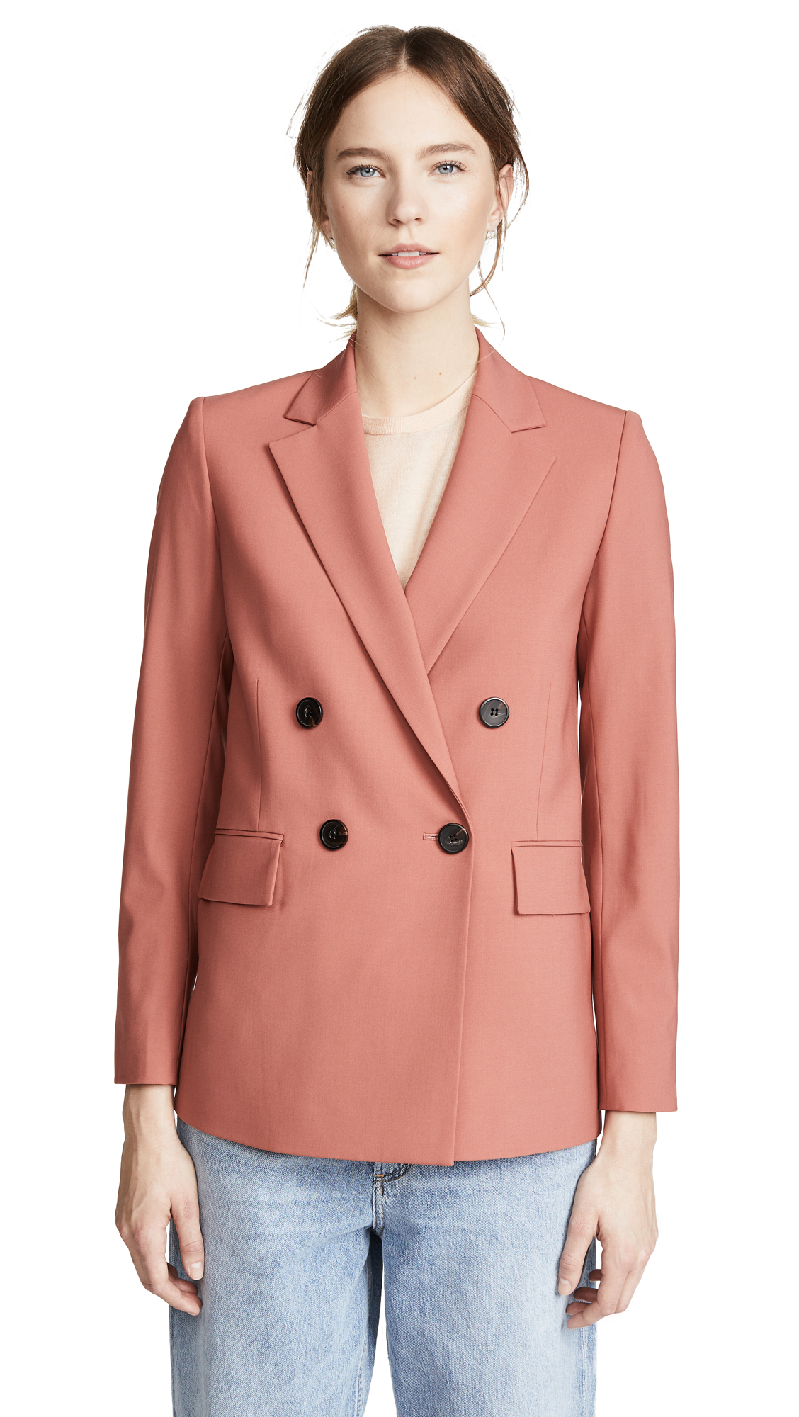 Theory Piazza Jacket In Pink Russet