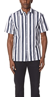 Theory Irving Striped Shirt