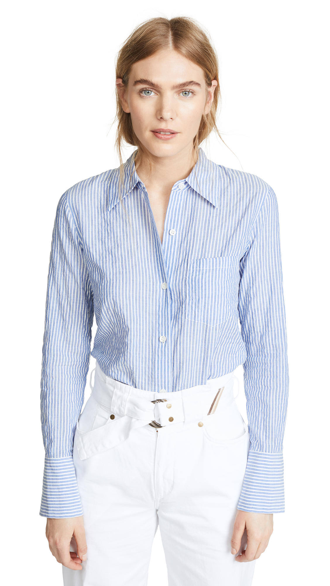 SLIM COLLAR BUTTON DOWN SHIRT