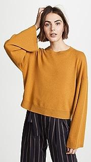 Theory Кашемировый пуловер с широкими рукавами