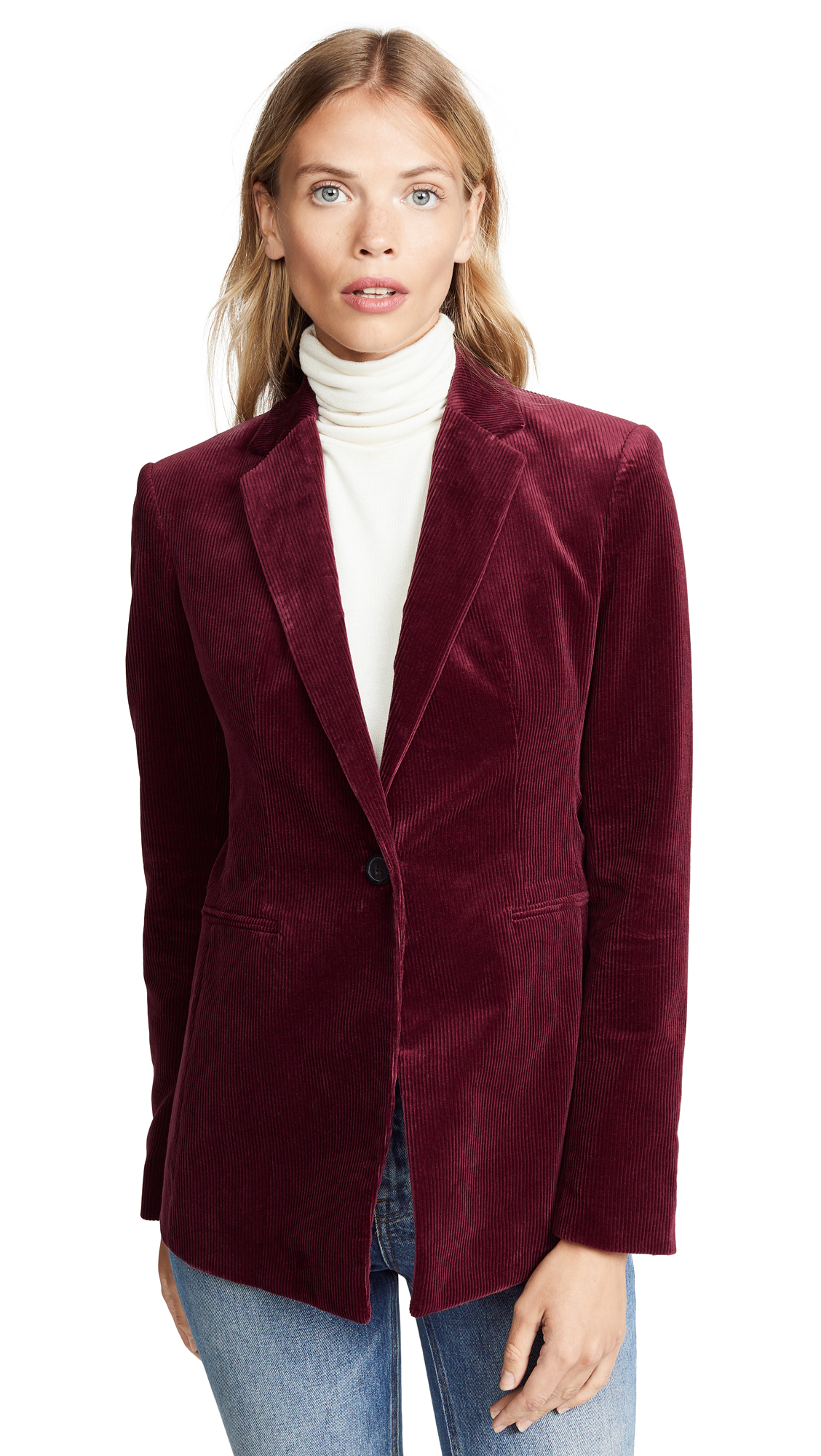 Theory Power Jacket II In Deep Mulberry
