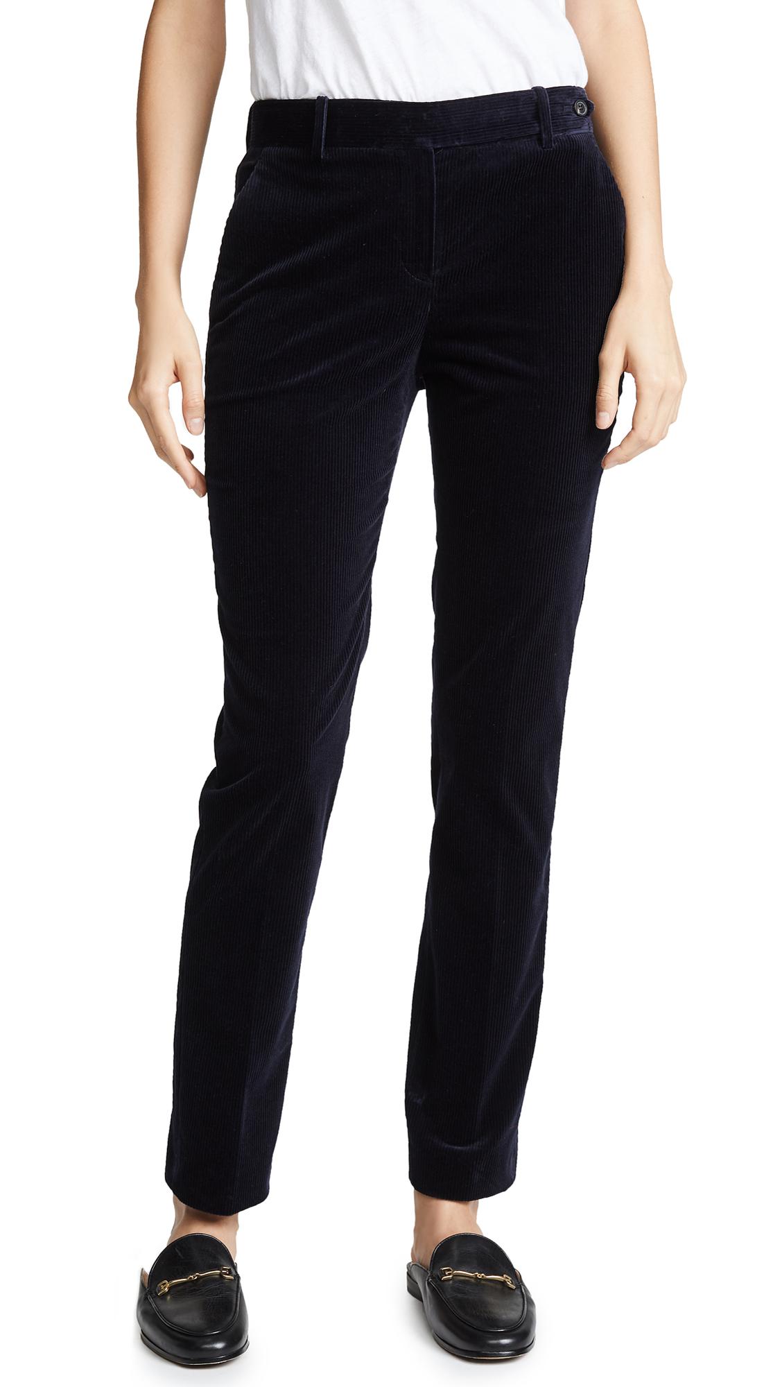 Theory Pintuck Trouser Pants - Deep Navy