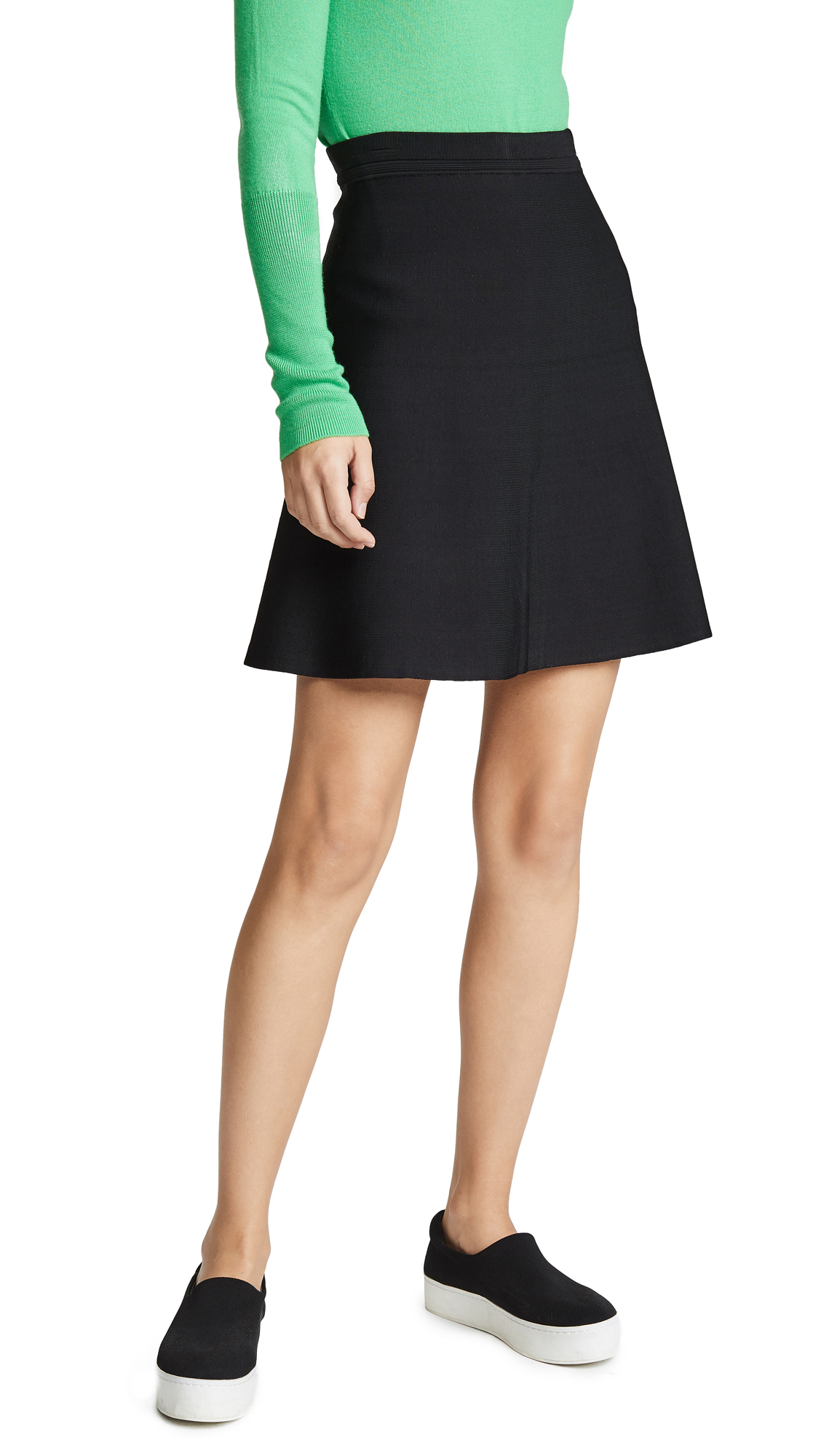 Theory Short Flare Skirt In Black