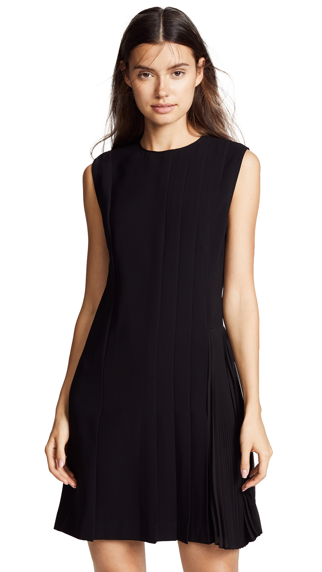 Theory Pleated Day Dress - Black