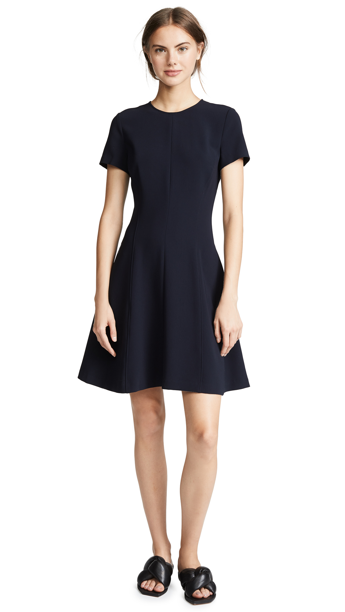 Theory Modern Seamed Shirt Dress - Deep Navy