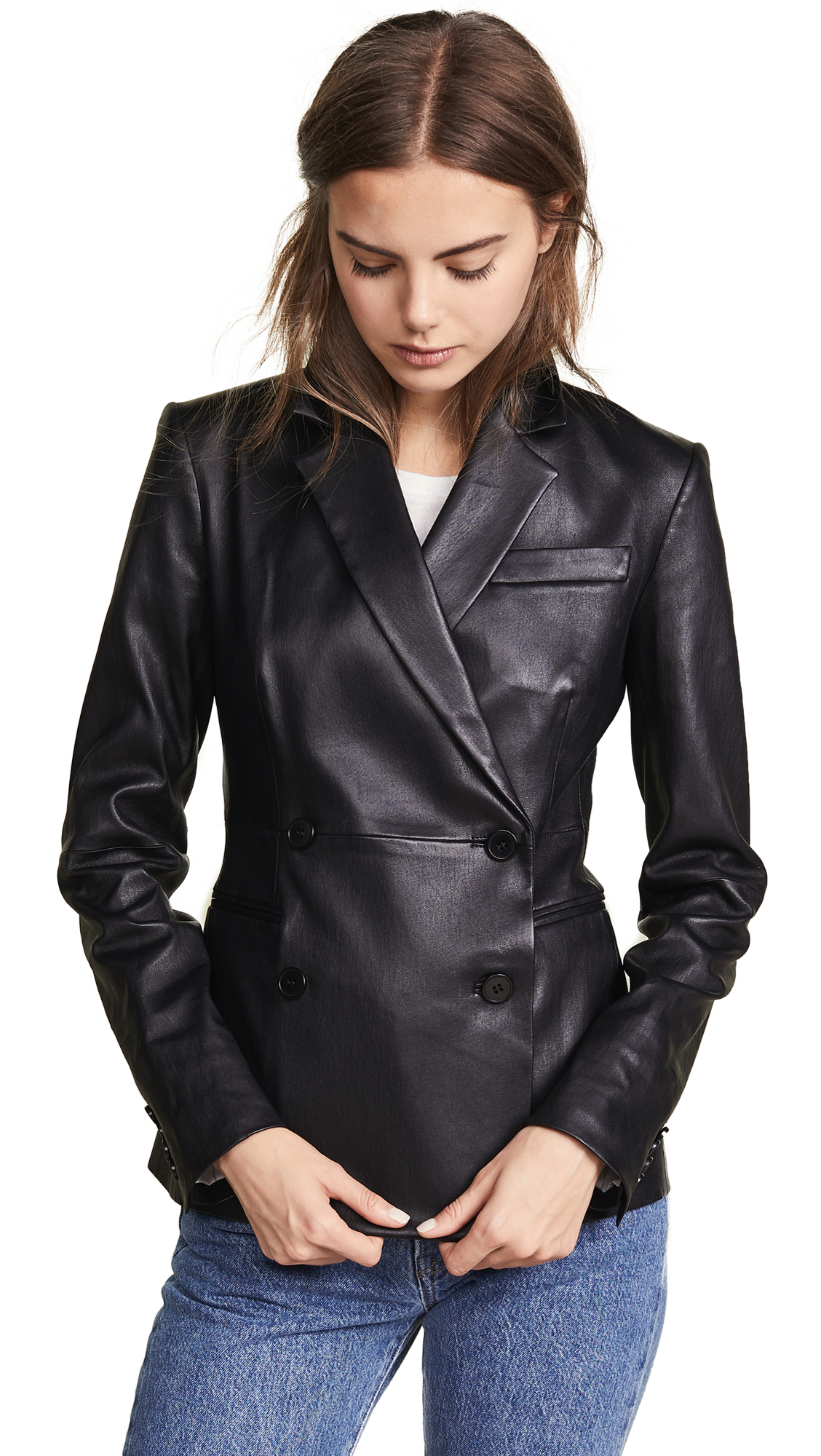 Theory Leather Blazer