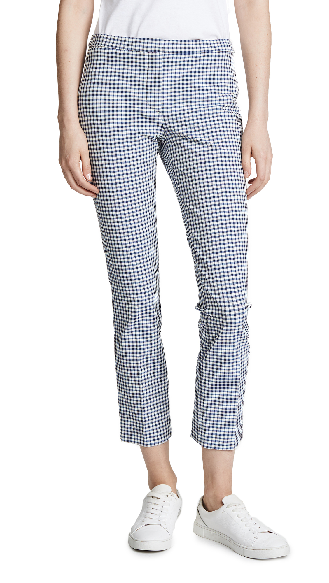 Theory Classic Skinny Pants In Multi Blue/White