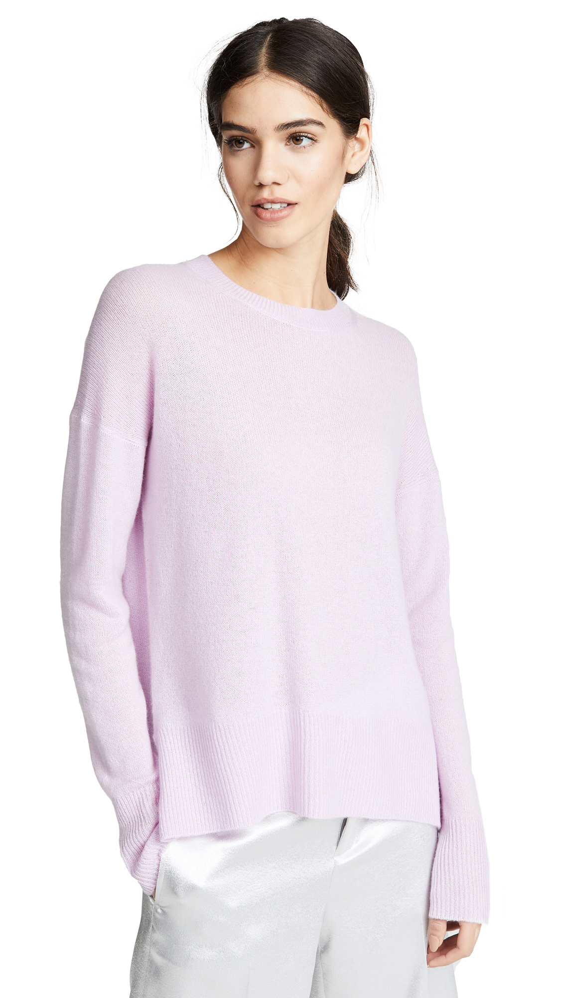 Theory Karenia Cashmere Sweater - Pink Lilac