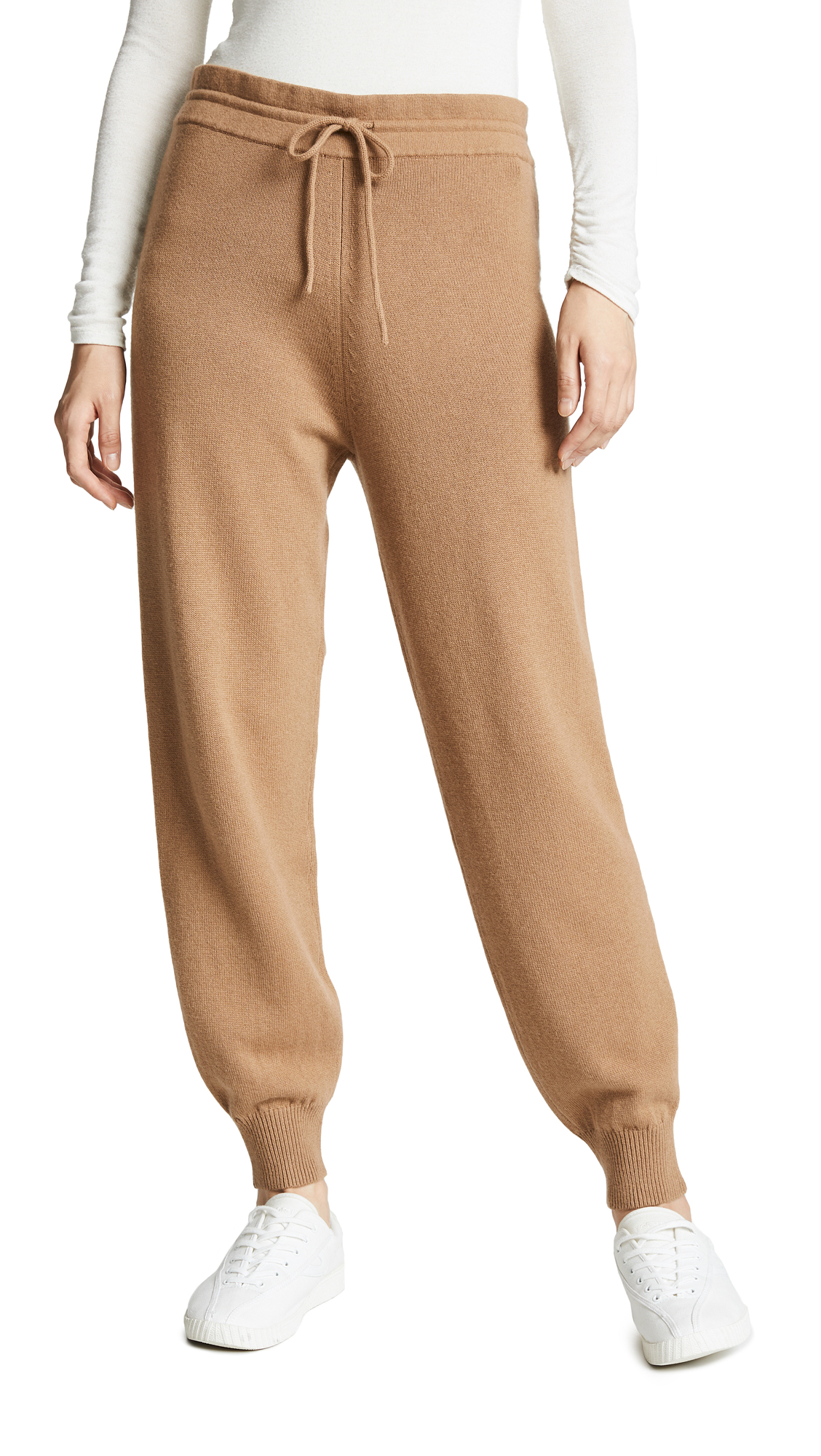 Theory Relaxed Wool Track Pants - Beige Canvas