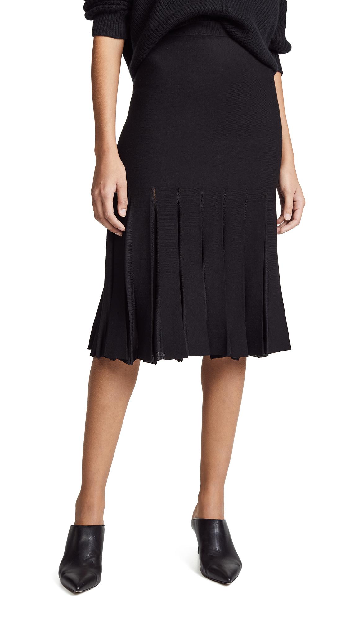 Theory Pleated Skirt - Black/Black