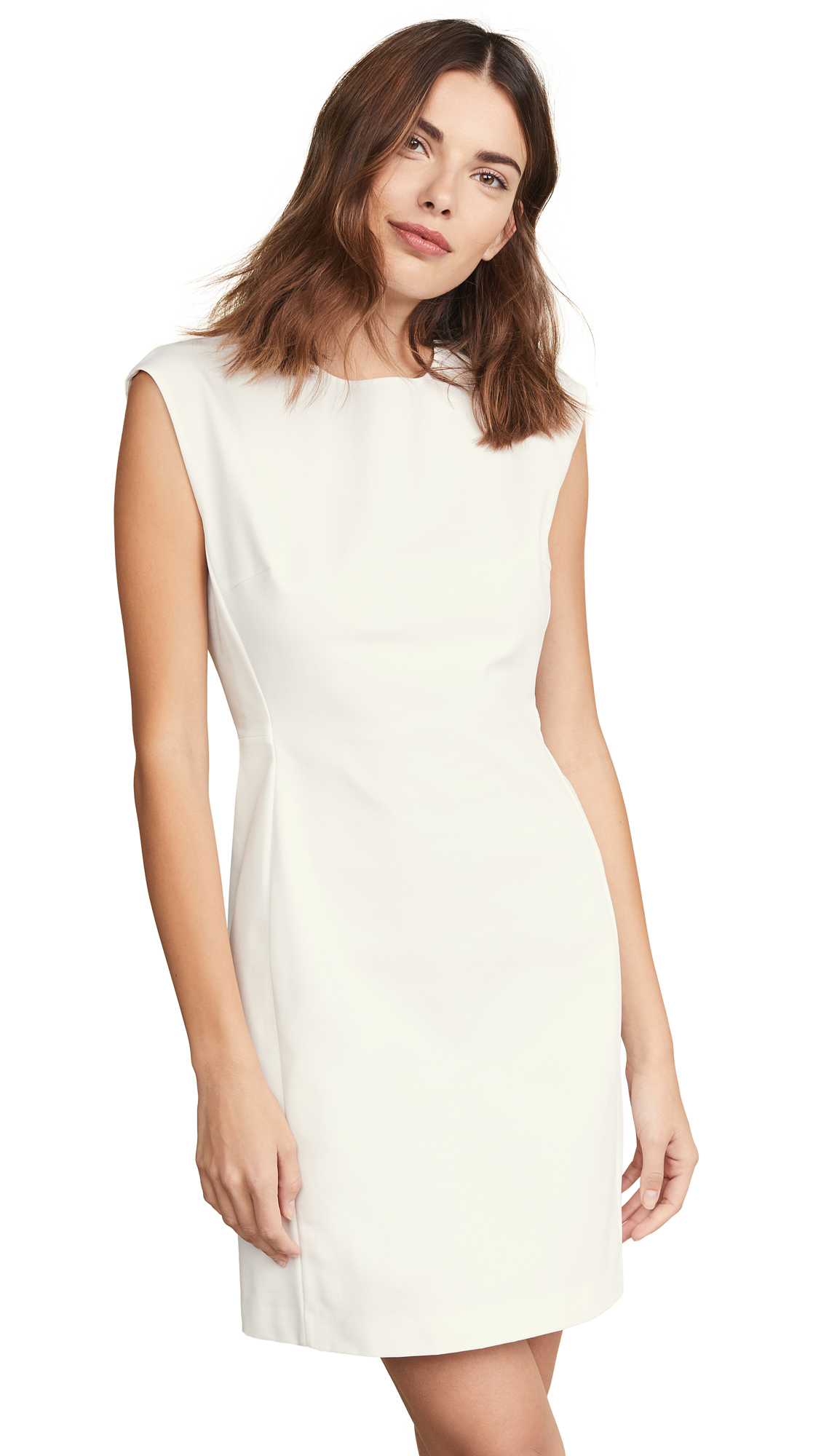 Theory Structured Fitted Dress - Sea Salt